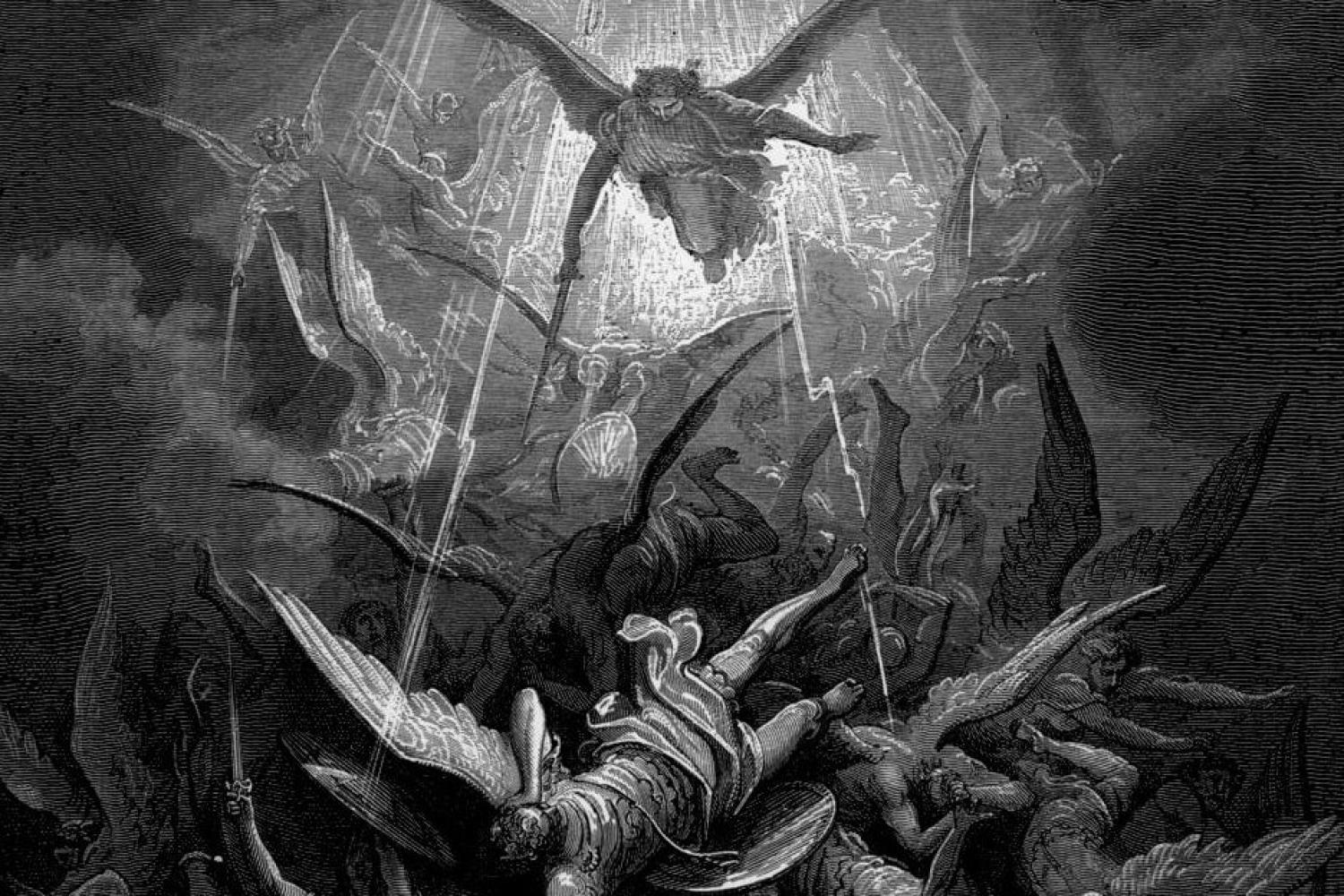 """Michael Casts Out All of the Fallen Angels,"" by Gustave Dore"