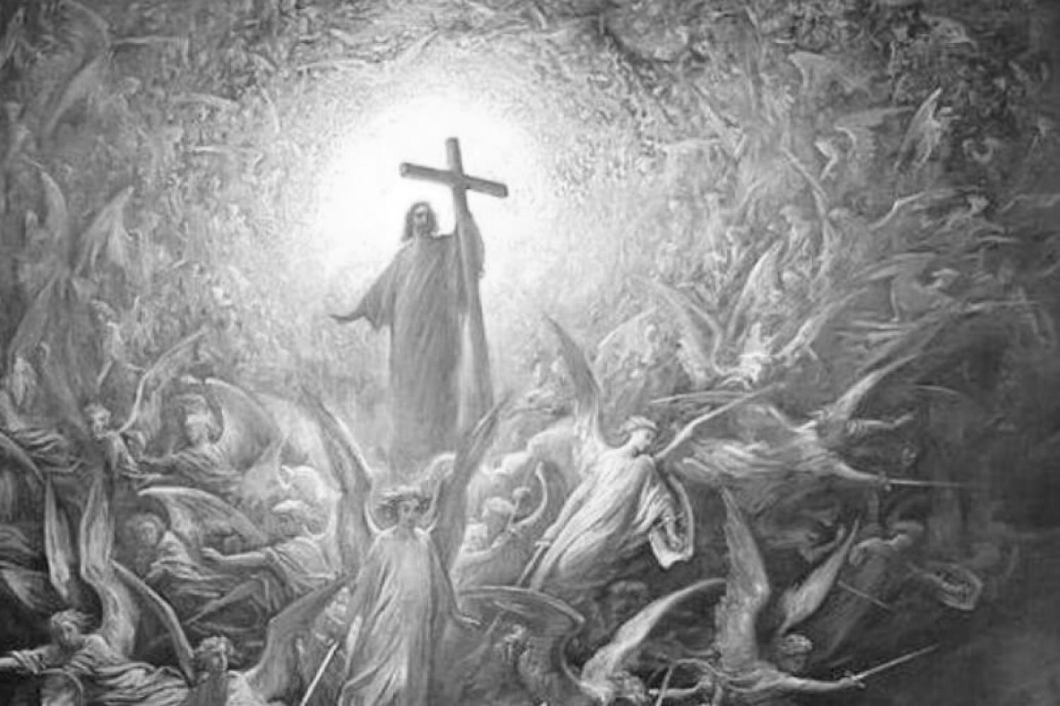 """The Triumph of Christianity over Paganism,"" by Gustave Dore"