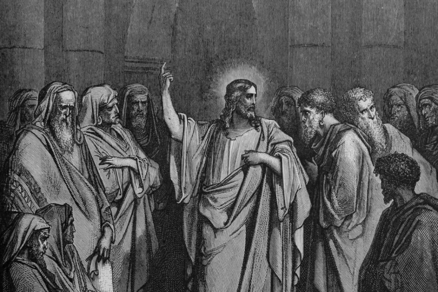 "Gustave Dore's ""Christ in the Synagogue"""