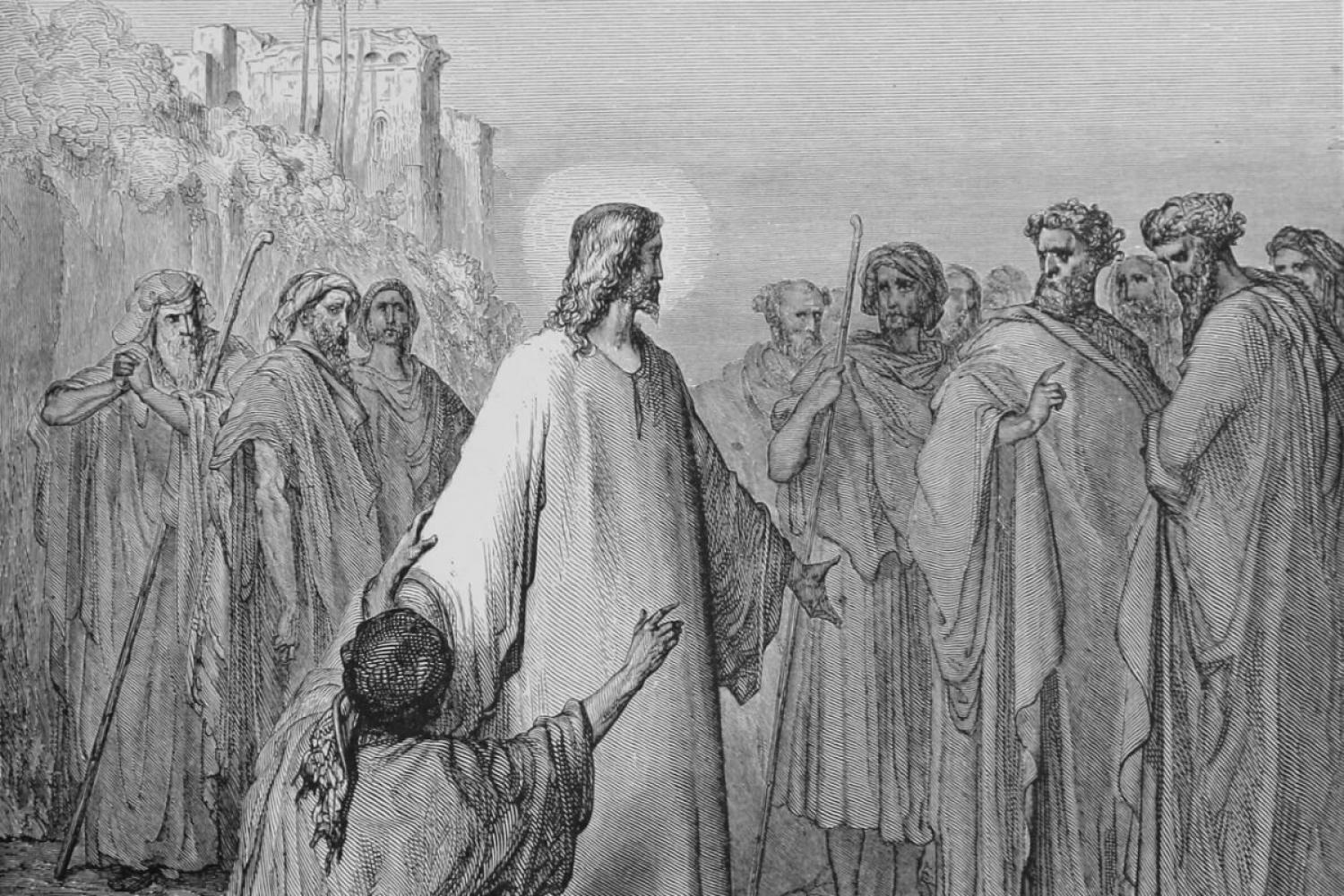 "Gustave Dore's ""Jesus Healing the Man Possessed with a Devil"""