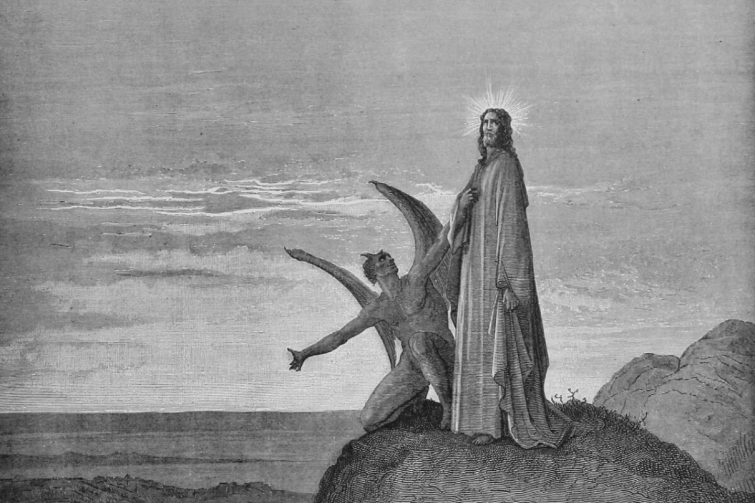 "Gustave Dore's ""The Temptation of Jesus"""