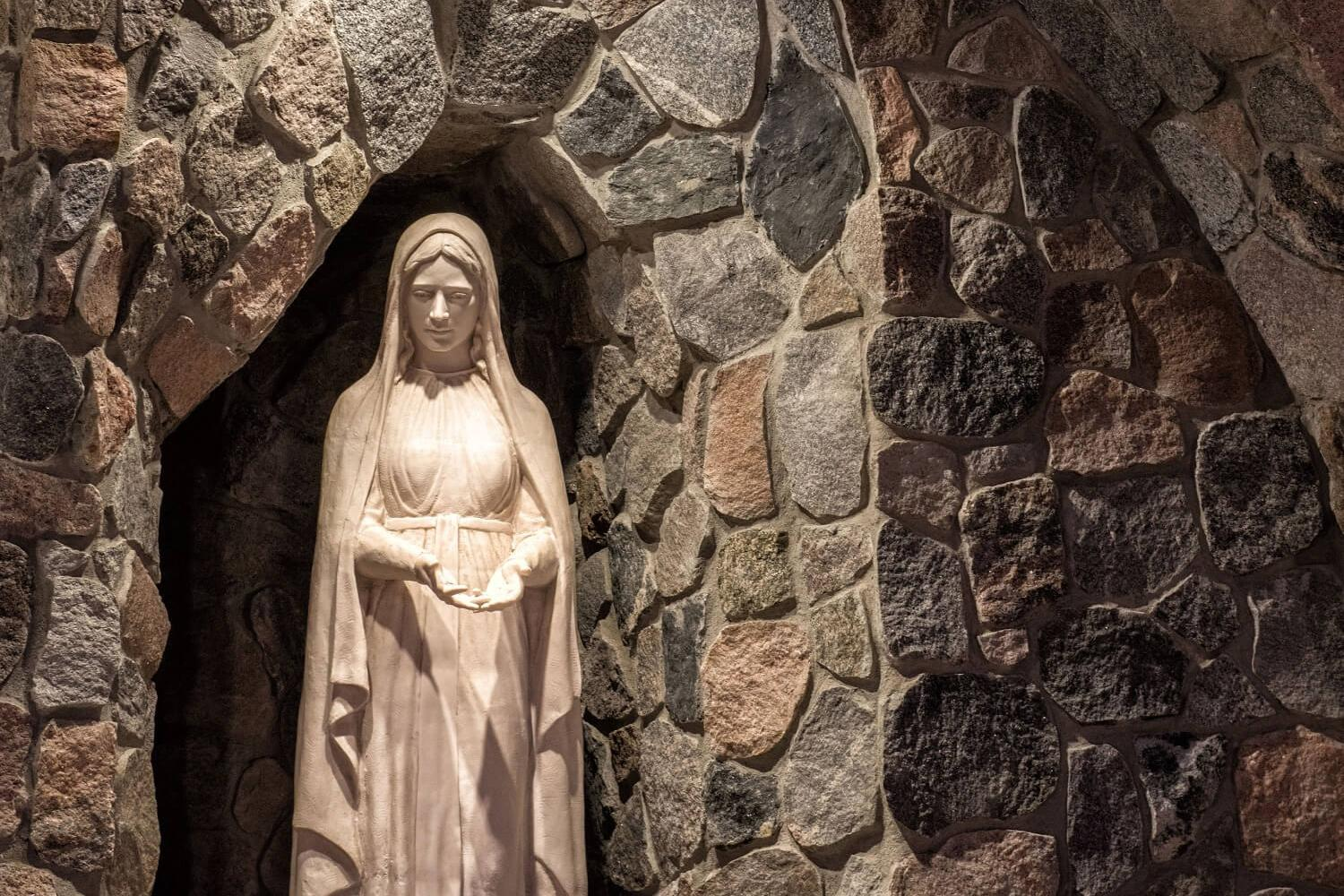 Marian Grotto at the University of Mary