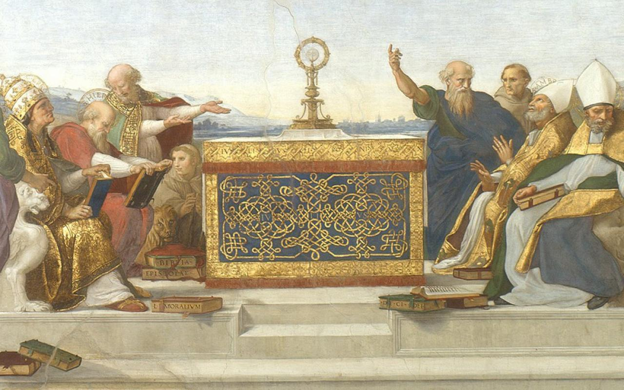 "Raphael's ""The Disputation of the Holy Sacrament"""
