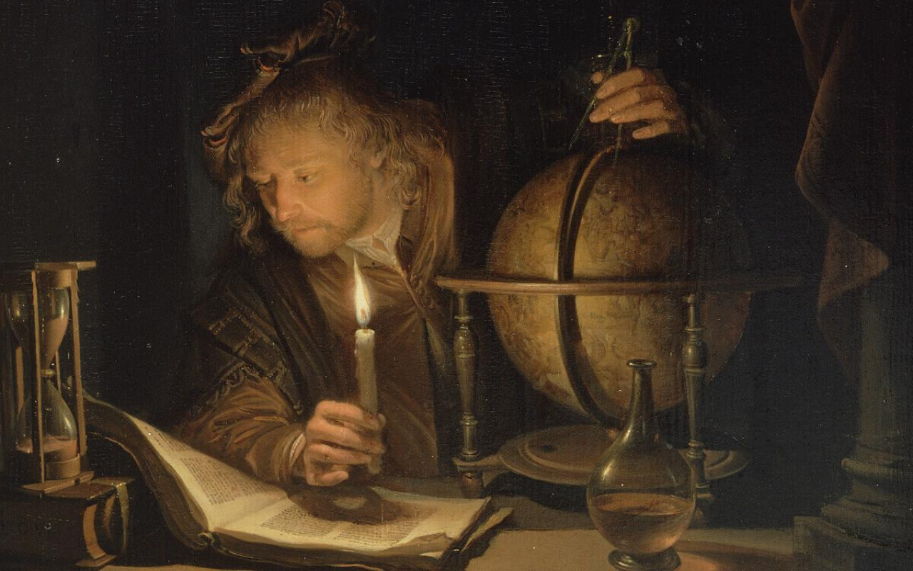 "Gerard Dou's ""Astronomer by Candelight"""