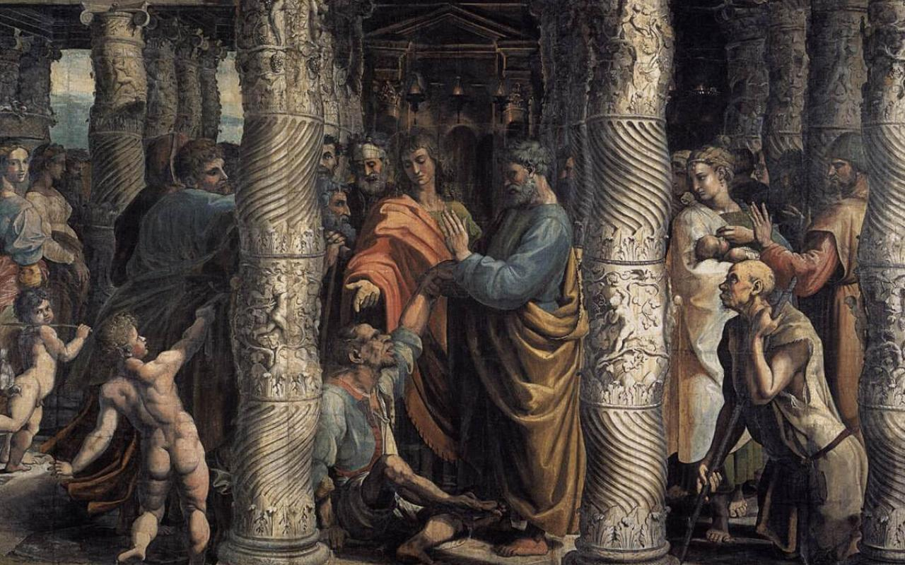 "Raphael's ""The Healing of the Lame Man"""