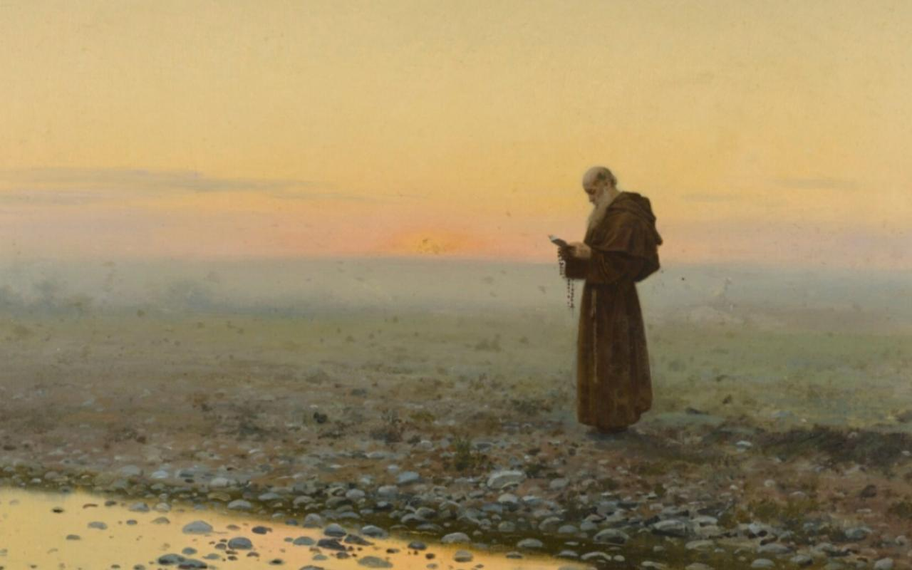 "J. Ferrer y Palloja's ""A Monk at Prayer"""