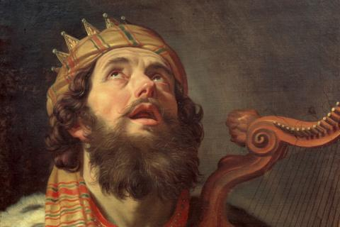 "Gerard van Honthorst's ""King David Playing the Harp"""