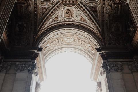 An Archway at Saint Peter's Basilica